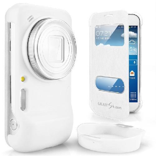 Флип чехол-книжка для Samsung Galaxy S4 Zoom белый