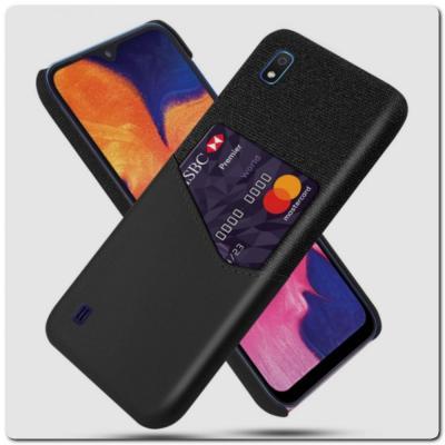 Гибридный Чехол для Задней Панели Телефона с Карманом для Карты для Samsung Galaxy A10 Черный
