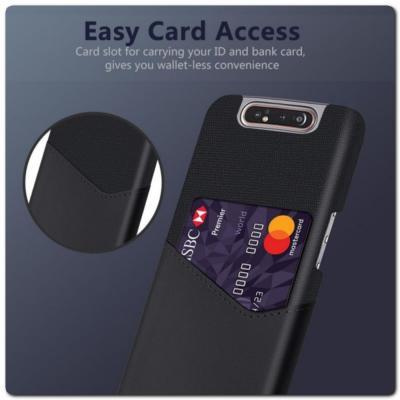 Гибридный Чехол для Задней Панели Телефона с Карманом для Карты для Samsung Galaxy A80 Черный