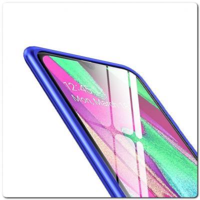 Магнитный Металлический Бампер Чехол для Samsung Galaxy A40 Стеклянная Задняя Панель Синий