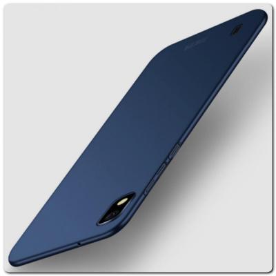 Матовый Ультратонкий Пластиковый Mofi Чехол для Samsung Galaxy A10 Синий