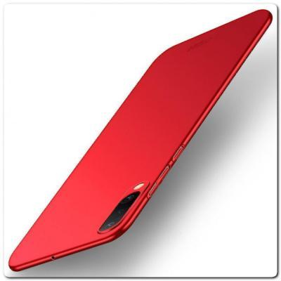 Матовый Ультратонкий Пластиковый Mofi Чехол для Samsung Galaxy A50 Красный