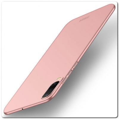 Матовый Ультратонкий Пластиковый Mofi Чехол для Samsung Galaxy A50 Ярко-Розовый