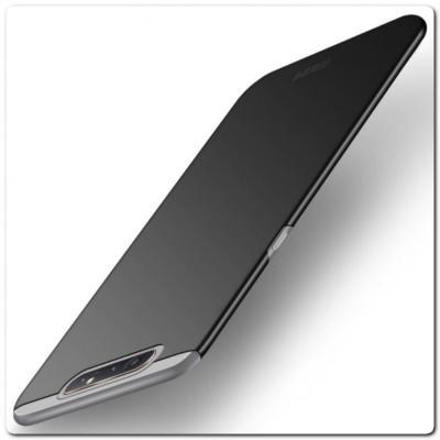 Матовый Ультратонкий Пластиковый Mofi Чехол для Samsung Galaxy A80 Черный