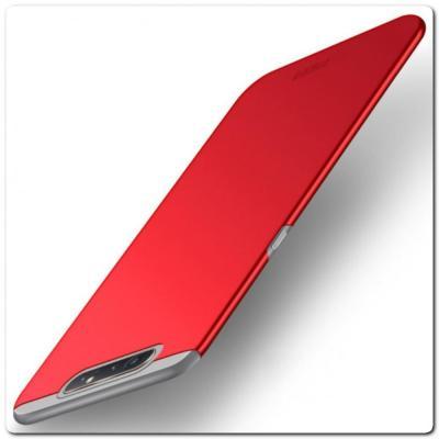 Матовый Ультратонкий Пластиковый Mofi Чехол для Samsung Galaxy A80 Красный
