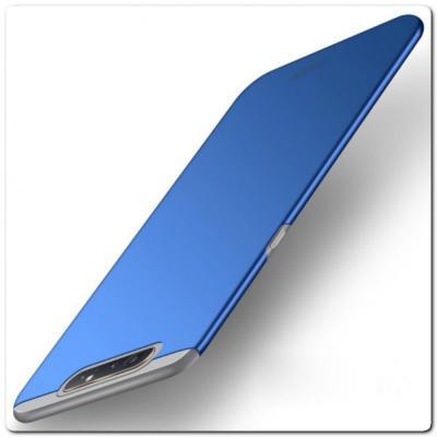 Матовый Ультратонкий Пластиковый Mofi Чехол для Samsung Galaxy A80 Синий