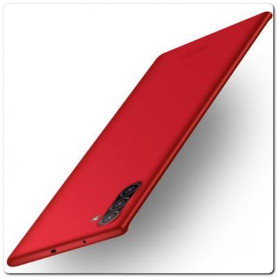 Матовый Ультратонкий Пластиковый Mofi Чехол для Samsung Galaxy Note 10 Красный