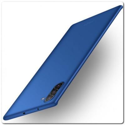 Матовый Ультратонкий Пластиковый Mofi Чехол для Samsung Galaxy Note 10 Синий