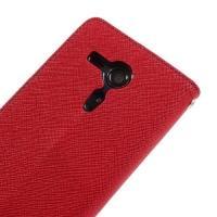 Flip чехол книжка для Sony Xperia SP красный