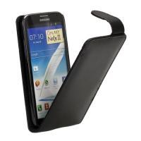 Кожаный чехол для Samsung Galaxy Note 2 черный