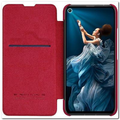 Nillkin Qin Искусственно Кожаная Чехол Книжка для Huawei Honor 20 Красный