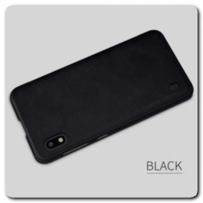 Nillkin Qin Искусственно Кожаная Чехол Книжка для Samsung Galaxy A10 Черный