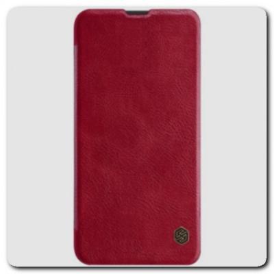 Nillkin Qin Искусственно Кожаная Чехол Книжка для Samsung Galaxy A10 Красный