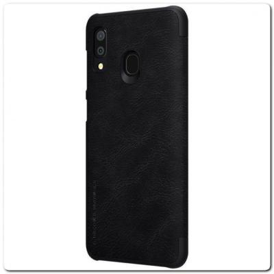 Nillkin Qin Искусственно Кожаная Чехол Книжка для Samsung Galaxy A30 / Galaxy A20 Черный