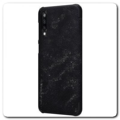 Nillkin Qin Искусственно Кожаная Чехол Книжка для Samsung Galaxy A50 Черный