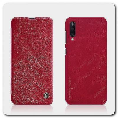 Nillkin Qin Искусственно Кожаная Чехол Книжка для Samsung Galaxy A50 Красный
