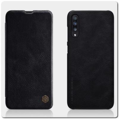 Nillkin Qin Искусственно Кожаная Чехол Книжка для Samsung Galaxy A70 Черный