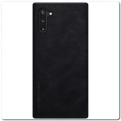Nillkin Qin Искусственно Кожаная Чехол Книжка для Samsung Galaxy Note 10 Черный
