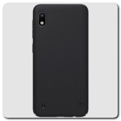 Пластиковый Кейс Nillkin Super Frosted Shield Чехол для Samsung Galaxy A10 Черный