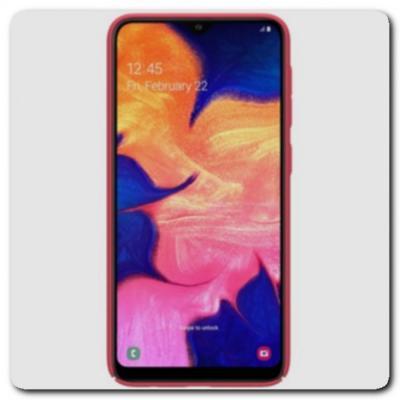 Пластиковый Кейс Nillkin Super Frosted Shield Чехол для Samsung Galaxy A10 Красный