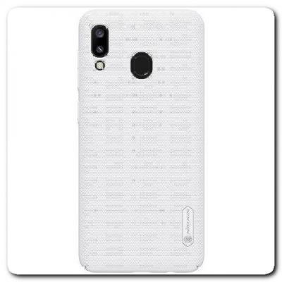 Пластиковый Кейс Nillkin Super Frosted Shield Чехол для Samsung Galaxy A30 / Galaxy A20 Белый