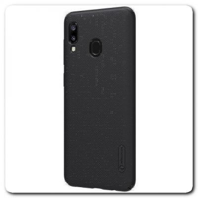 Пластиковый Кейс Nillkin Super Frosted Shield Чехол для Samsung Galaxy A30 / Galaxy A20 Черный