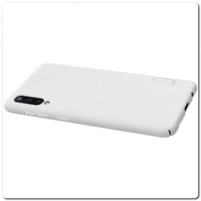 Пластиковый Кейс Nillkin Super Frosted Shield Чехол для Samsung Galaxy A50 Белый