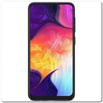 Пластиковый Кейс Nillkin Super Frosted Shield Чехол для Samsung Galaxy A50 Черный