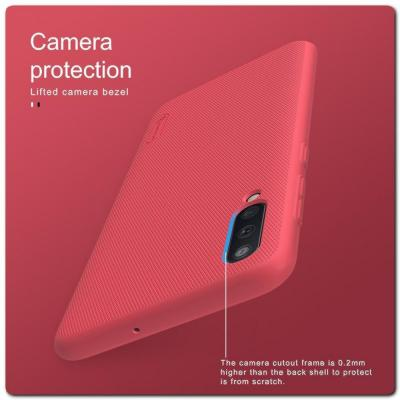 Пластиковый Кейс Nillkin Super Frosted Shield Чехол для Samsung Galaxy A50 Красный