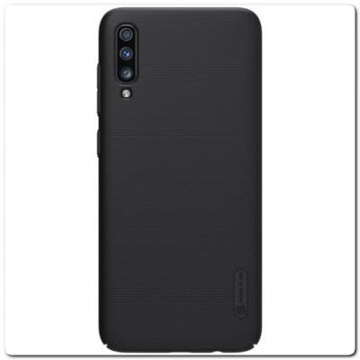 Пластиковый Кейс Nillkin Super Frosted Shield Чехол для Samsung Galaxy A70 Черный