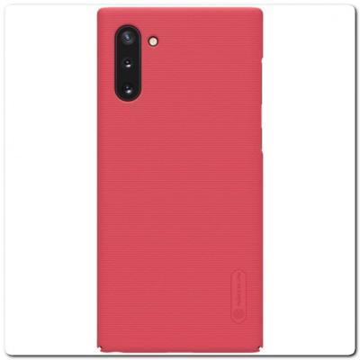 Пластиковый Кейс Nillkin Super Frosted Shield Чехол для Samsung Galaxy Note 10 Красный
