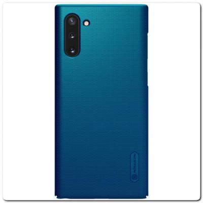 Пластиковый Кейс Nillkin Super Frosted Shield Чехол для Samsung Galaxy Note 10 Синий