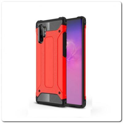 Противоударный Armor Guard Комбо Пластик + TPU Защитный Чехол для Samsung Galaxy Note 10+ / Note 10 Plus Красный