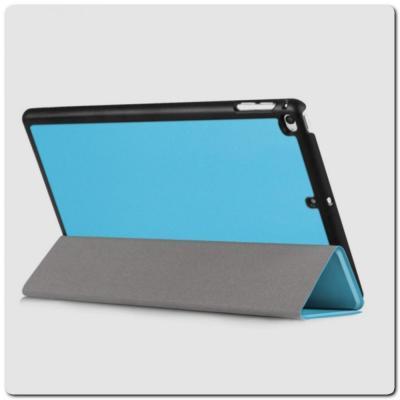 PU Кожаный Чехол Книжка для iPad mini 2019 Складная Подставка Голубой