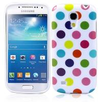 Силиконовый чехол для Samsung Galaxy S4 mini White&Multicolor Bubble
