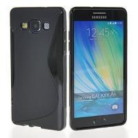 Силиконовый чехол для Samsung Galaxy A5, Galaxy A5 Duos - черный S-образный