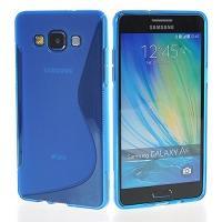 Силиконовый чехол для Samsung Galaxy A5, Galaxy A5 Duos - синий S-образный