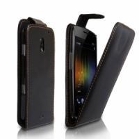 Кожаный чехол для Samsung Galaxy Nexus черный