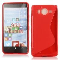 Силиконовый чехол для Microsoft Lumia 950 красный