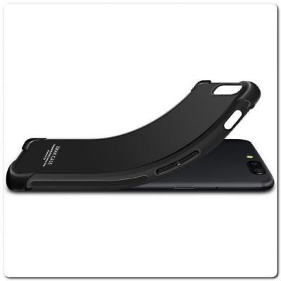 Силиконовый Чехол IMAK Airbag с Усиленными Увеличенными Углами для Samsung Galaxy A30 / Galaxy A20 Черный