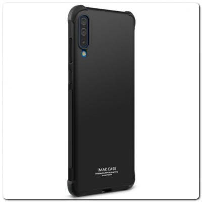 Силиконовый Чехол IMAK Airbag с Усиленными Увеличенными Углами для Samsung Galaxy A70 Черный