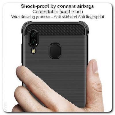 Силиконовый чехол IMAK Vega с Воздушными Подушками Безопасности для Samsung Galaxy A30 / Galaxy A20 Черный