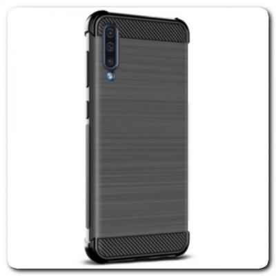 Силиконовый чехол IMAK Vega с Воздушными Подушками Безопасности для Samsung Galaxy A70 Черный