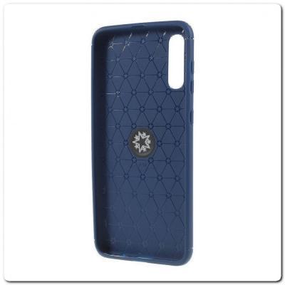 Силиконовый Magnet Ring Чехол с Кольцом для Магнитного Держателя для Samsung Galaxy A50 Синий