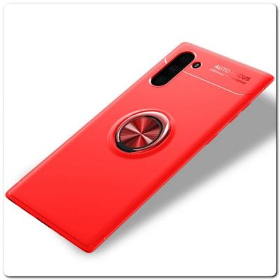 Силиконовый Magnet Ring Чехол с Кольцом для Магнитного Держателя для Samsung Galaxy Note 10 Красный