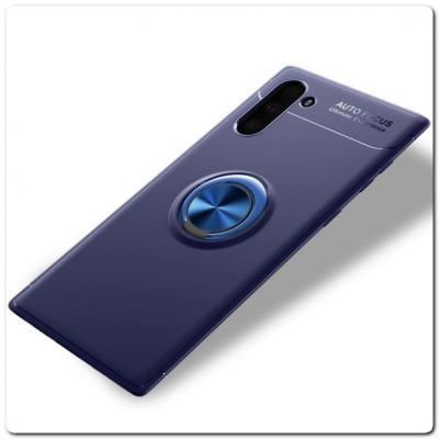 Силиконовый Magnet Ring Чехол с Кольцом для Магнитного Держателя для Samsung Galaxy Note 10 Синий