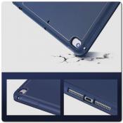 Купить PU Кожаный Чехол Книжка для iPad mini 2019 Складная Подставка Синий на Apple-Land.ru