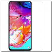 Купить Закаленное Защитное Противоударное DF Стекло для Samsung Galaxy A70 с Олеофобным Покрытием Черное на Apple-Land.ru