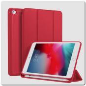 Купить PU Кожаный Чехол Книжка для iPad mini 2019 Складная Подставка Красный на Apple-Land.ru