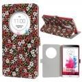 Купить Кожаный чехол книжка для LG G3 Flower Pattern на Apple-Land.ru